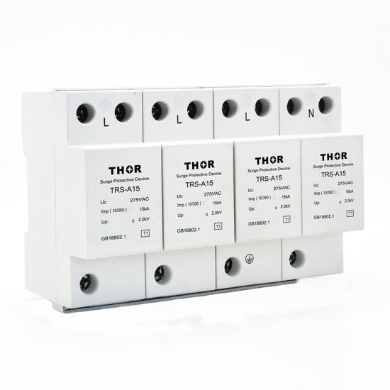 Power Surge Protection Device Type 1 Voltage Surge Protector 60ka Zinc Oxide Surge Arrester pictures & photos