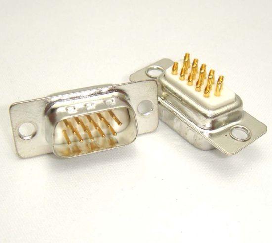 Hdb15 Pin D-SUB 15 Pin D Type Three Rows VGA Machine Pin Solder Male Connector