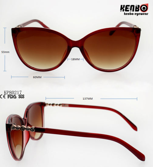 0682d2a362 Fashion Cateye Plastic Sunglasses with Metal Pattern Carved Temple Kp80217  pictures   photos