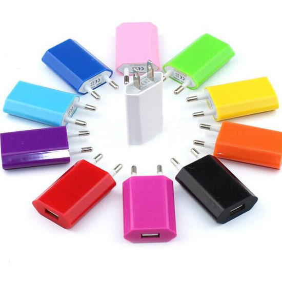 Colorfull USB AC Power Adapter EU Us Plug Wall Charger for iPhone 5 4 3G 3GS