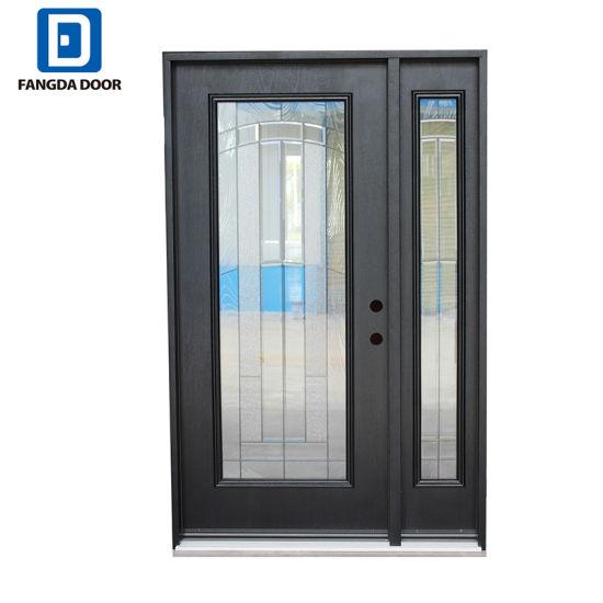 Fangda Elegant Fiberglass Single Front Glass Door With One Sidelight