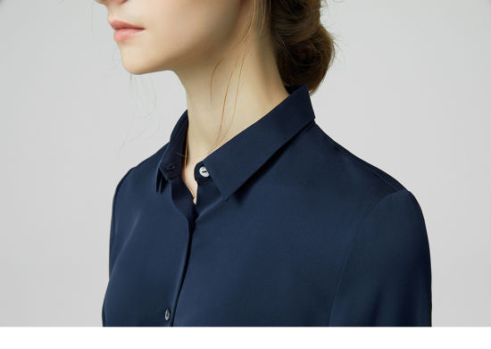 b076bcba3286d China Hot Sale 100% Lady Luxury Silk Shirt Silk Blouse Manufacture ...