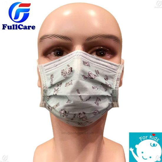 Medical/Doctor/Surgeon/Surgical/Hospital/Protective/Safety/Nonwoven/2ply/3ply/Bfe99/Active Carbon/Dust/Paper/Kids/Disposable Face Mask with Earloop/Tie on pictures & photos