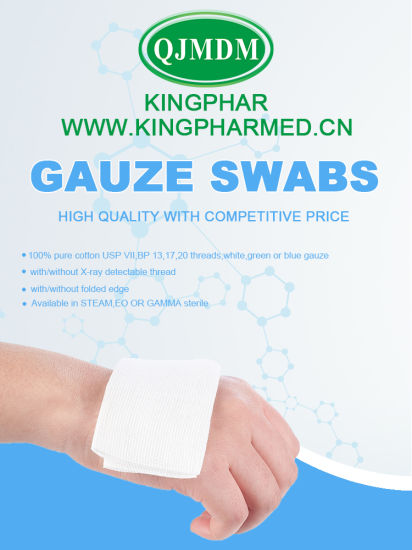 Disposable Factory Manufactured Dental Gauze Swab ISO Ce