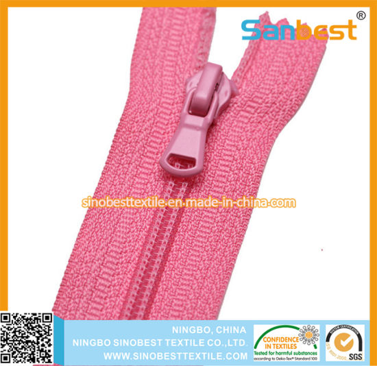Nylon Zipper with 2 Way Closed End pictures & photos