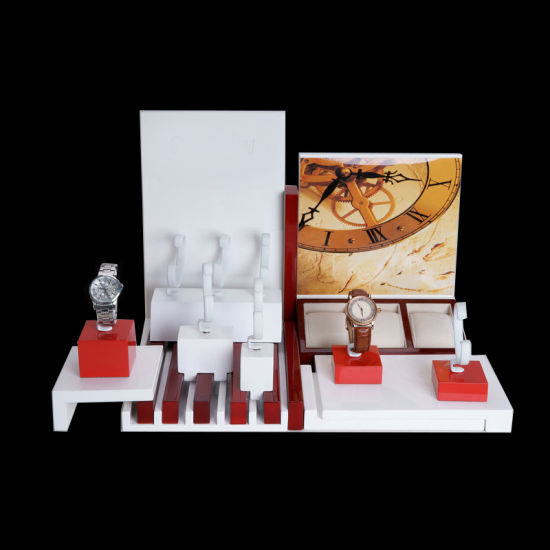 Wholesale Customize Wooden Acrylic PU Leather Watch Jewelry Display Stand pictures & photos
