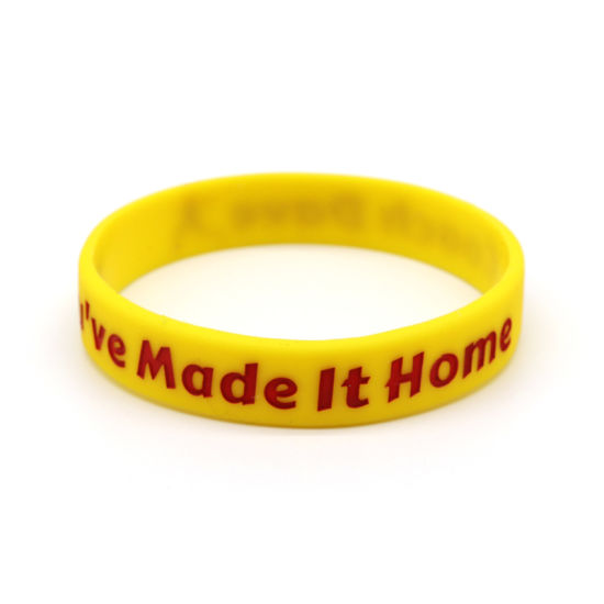 Custom Promotional Gifts Plain Color Debossed Printed Logo Rubber Silicone Wristband for Events pictures & photos