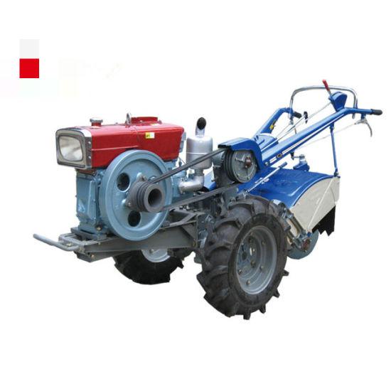 8HP 10HP Small Mini Two Wheel Walking Tractor Hand Operated Diesel Walking Tractor 12HP 18HP 20HP