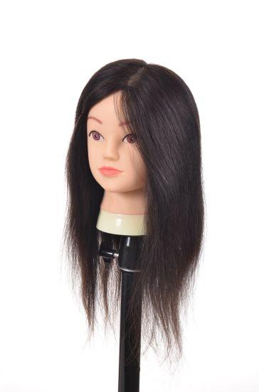 Human Hair Training Head 16inches Real Human Hair Mannequin Head
