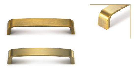 Kitchen Hardware Zamak 3 Brushed, Antique Gold Kitchen Cabinet Handles