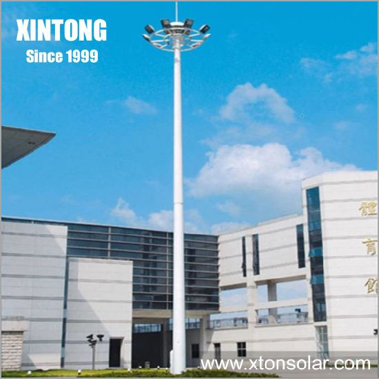 35m 1000W Weight of High Mast Light Lighting Pole Drawing pictures & photos