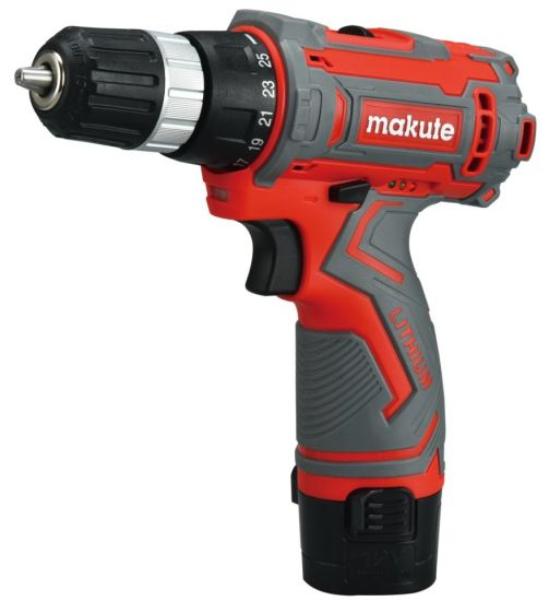 Makute Hand Drilling Power Tools Cordless Drill 12V Lion Battery pictures & photos