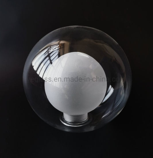 Custom Hand Made Frosted Borosilicate Glass G9/E27 Screw Double Wall Globe Glass Lamp Shade pictures & photos