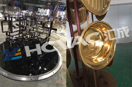 Metal Furniture Door Handle PVD Coating Machine Chrome Plating Equipment
