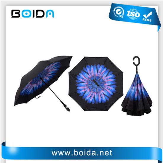 Automatic Pongee Rain Umbrellas/Fold Sun Outdoor Gift Umbrellas/Custom Promotion Golf Umbrella/Advertising Aluminum Straight Windproof Umbrella (T(UA32203)