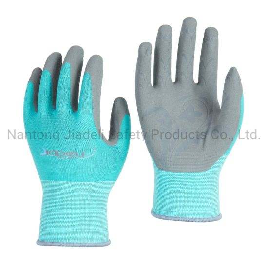 Embossed Palm Gardening Glove with Sandy Nitrile Dipped