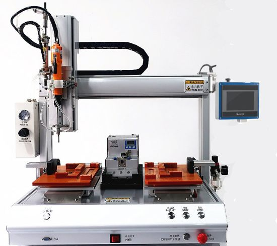 Benchtop 4-Axis Single Head Dual Station Robotic Screwdriver Machine