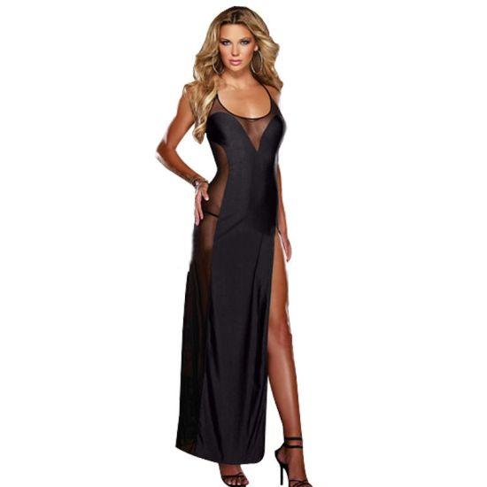 Women Lingerie Sexy Long Nightdress Transparent