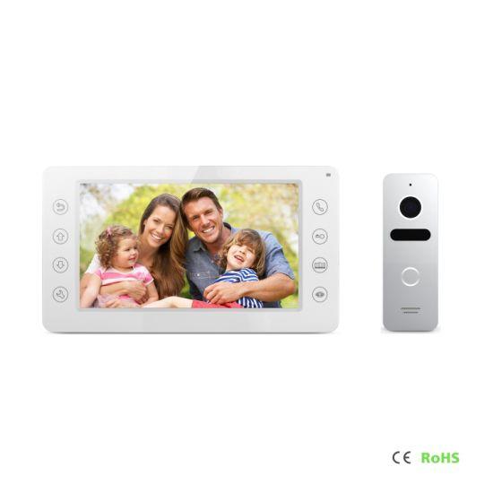 7 Inches Home Security Doorbell Video Doorphone Intercom