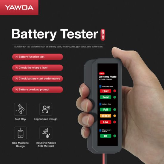 12v DC Voltage Check Car Battery /& Alternator Tester for MG