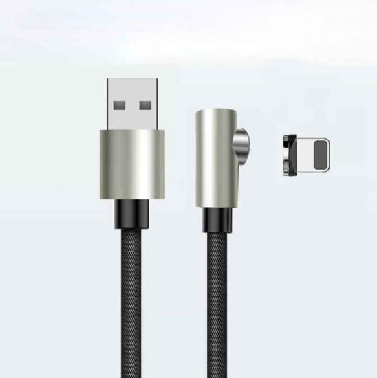 Right Angle Magnetic Braided Cable for Game Playing