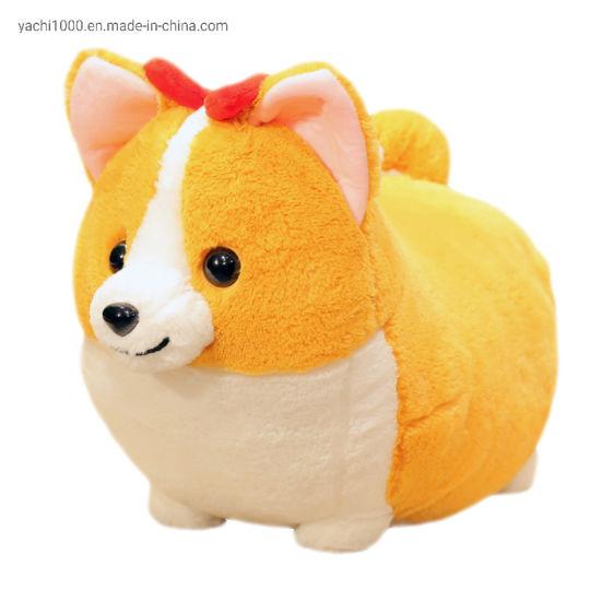 Custom Kid Toys Stuffed Animals Plush Cute Corgi Dog Pet