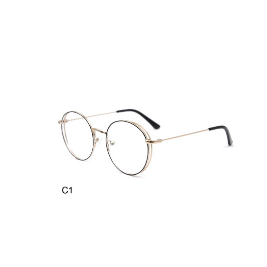 Higo Latest Trendy Christmas Gift 2019 Metal Round Glasses Frame Optical Frame for Girls