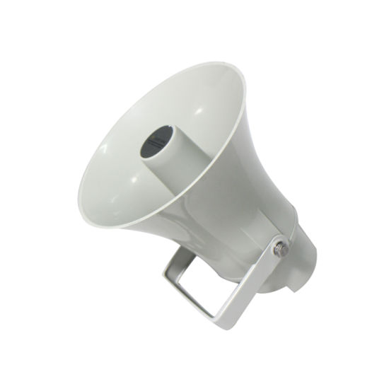 TCP/IP PA Network Waterproof Audio Loudspeaker15W, with Digital Amplifier and RJ45 Interface, Horn Speaker for Indoor and Outdoor Application