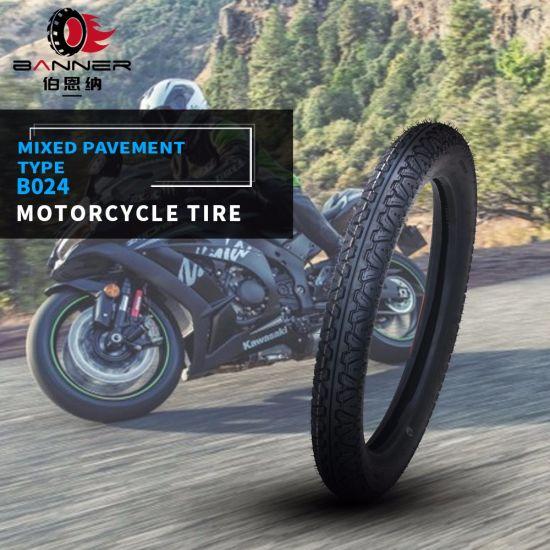 20 Years ISO9001 Factory All Terrain Tubeless Dirt Bike Scooter ATV Mrf Rubber Tire/Tyre for Philippines Kenya Bajaj Motorcycle B024 3.00-17 3.00-18