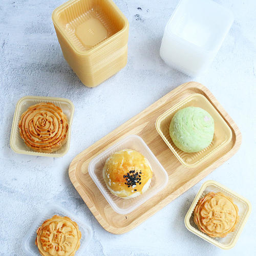 China Plastic Egg Yolk Puff Minicake Take Away Container with ...