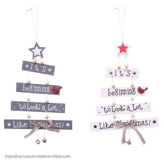 Colored Letter Pendant Christmas Tree Ornaments Home Christmas Decoration