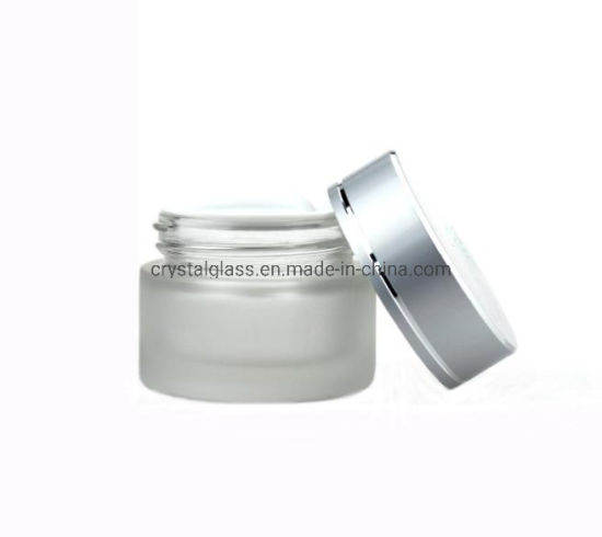 30g 30ml Frosted Glass Cosmetic Jar Cream Glass Jar with Aluminium Cap pictures & photos
