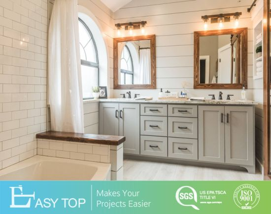 Supplier European Style Shaker PVC Washroom Vanity Modern Bathroom Cabinet