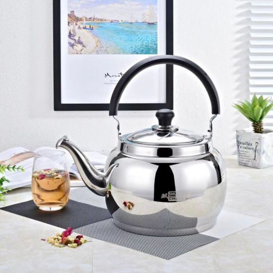 Household Stainless Steel Non-Magnetic Portable Whistling Kettle Electric Kettle for Coffee/Tea/Milk/Hot Water with 1.0-7.0L Capacity