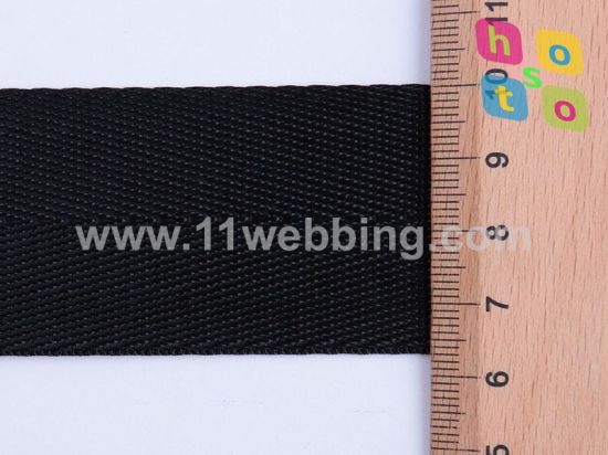 1.5inch Black Herringbone Polyester Webbing for Bag Accessories pictures & photos
