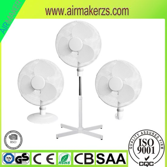 Australia SAA 16inch Plastic Stand Fan with Strong Airflow