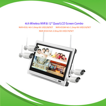 4CH WiFi NVR Integrated 12
