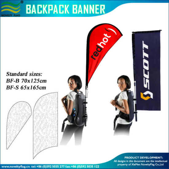 Feather/Teardrop/Rectangle Backpack Banner Walking Advertising pictures & photos
