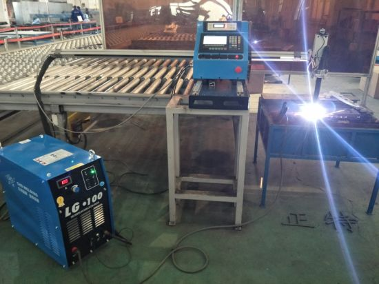 portable CNC metal plate gas flame& plasma cutting machine wth steel track pictures & photos