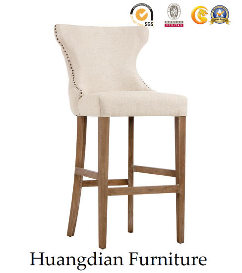 Modern Bar Furniture Tufted Back Fabric Bar Chair Bar Stool (HD512) pictures & photos