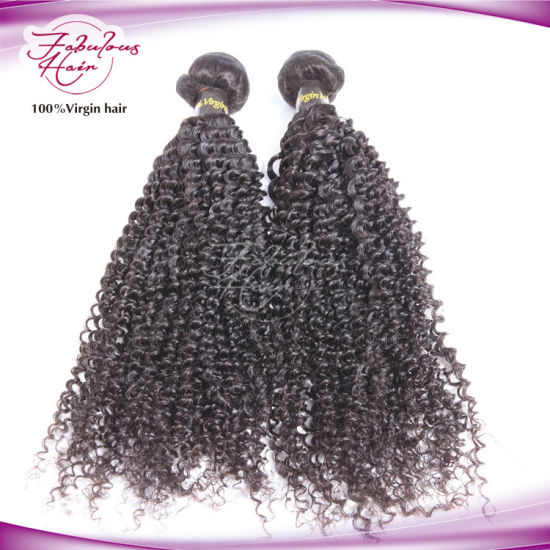 Natural Color 100% Virgin Peruvian Hair Weaving Kinky Curly pictures & photos