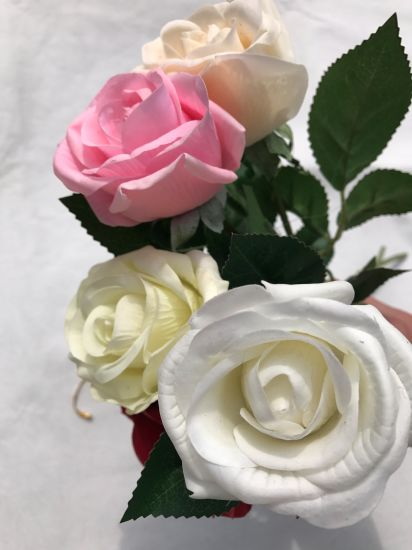 China Silk Flowers Artificial Rose Wedding Party Home Floral Decor