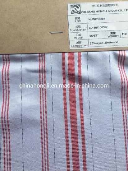 Yarn Dyed Tencel/Rayon Fabric in Stripe