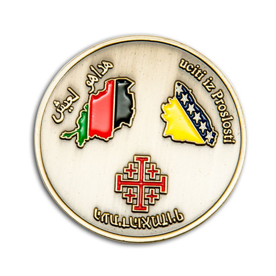 High Quality Metal Badge Challenge Coin Coin RFID Tag Emblem Euro Functional