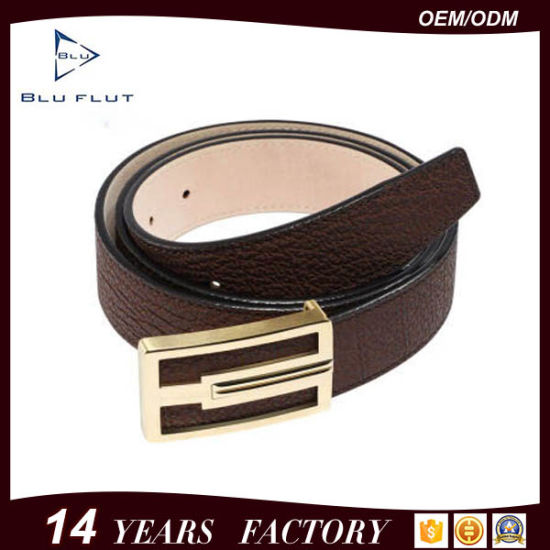 Factory Wholesale Custom OEM ODM Buckle Genuine Leather Men Belts