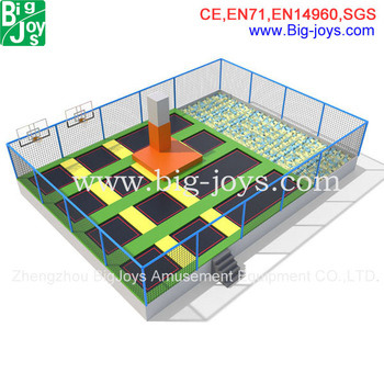 Safety Adult Commercial Big Cheap Indoor Trampoline Park pictures & photos