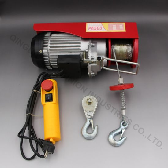 High Quality Level Mini Electric PA Hoist Wire Rope Hoist Chain Hoist pictures & photos