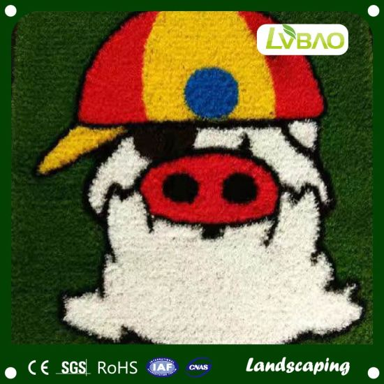New Outdoor Cartoon Design Artificial Grass Carpet pictures & photos