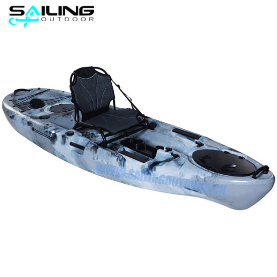 Wholesale 10FT Pedal Boat Stable Performance Foot Pedal Powered Propeller Kayak Fishing Con Pedali