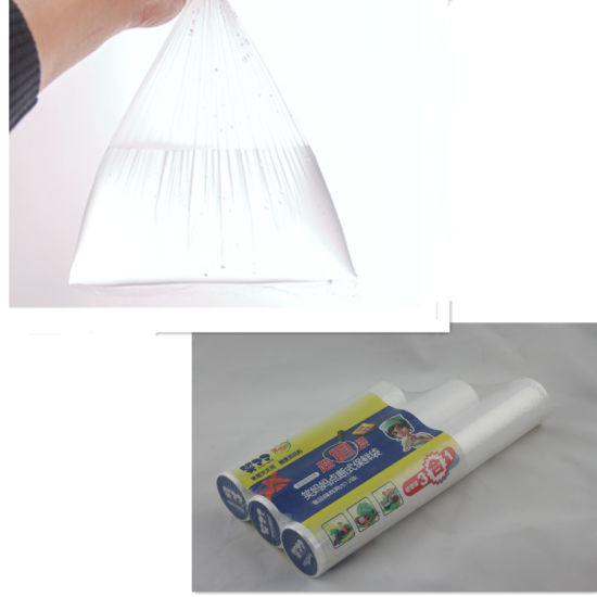 Plastic Handle Bag (food grade) LDPE. LLDPE. HDPE pictures & photos